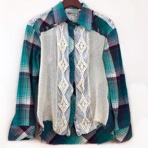 Gimmicks by BKE Plaid Long Sleeve Western Style